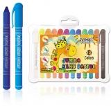 Creioane pastel Jumbo, Lavabile, 12 culori/set S-Cool