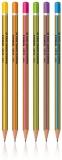 Creion grafit, HB, lemn, triunghiular, Neon/Gold, diverse culori S-Cool