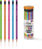 Creion triunghiular HB, cu guma, diverse modele S-Cool