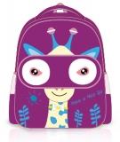 Ghiozdan fete pentru gradinita si clasa 0 Giraffe Purple S-Cool