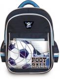 Ghiozdan scolar baieti 16 inch Happy Kids Football 3 compartimente S-Cool