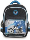 Ghiozdan scolar baieti 16 inch Happy Kids Motorcycle 3 compartimente S-Cool
