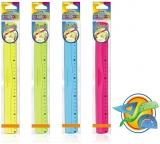 Liniar flexibil 30 cm, PVC transparent, diverse culori S-Cool