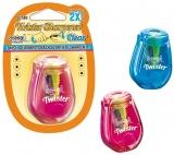 Ascutitoare cu dubla rasucire, container transparent, ajustare varf, diverse modele, 1 buc/blister S-Cool