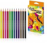Creioane colorate flexibile Jumbo Flexy 12 culori/set S-Cool