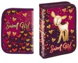 Penar echipat Sweet Girl cu efect de glliter 1 compartiment S-Cool