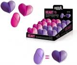Radiera si ascutitoare metalica in carcasa de plastic in forma de inima S-Cool
