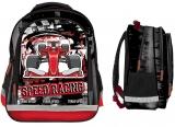 Ghiozdan scolar Ergonomic Speed Racing cu 3 compartimente S-Cool