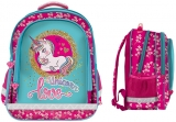 Ghiozdan scolar Ergonomic Unicorn Love cu 3 compartimente S-Cool