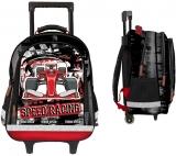 Troller scolar baieti Speed Racing 3 compartimente S-Cool