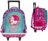 Troller scolar fete Love Unicorn Glitter 3 compartimente S-Cool
