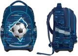 Ghiozdan scolar baieti anatomic, neechipat, 3 compartimente, Football S-Cool