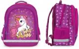 Ghiozdan scolar ergonomic, neechipat, 3 compartimente, Unicorn S-Cool
