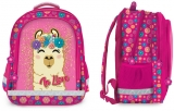 Ghiozdan scolar fete ergonomic, neechipat, 3 compartimente, Llama S-Cool