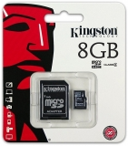 Card de memorie MicroSDHC, 8 GB, Class 4 + Adaptor Kingston