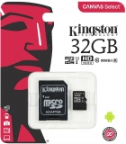 Card de memorie MicroSDHC, 32 GB, Canvas Select, Class 10 + Adaptor Kingston