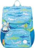 Ghiozdan baieti Mini Little Travelers Plus, Blue Aquarium, Tiger