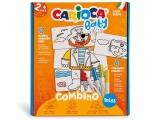 Set creativ markere, Baby 2+ Tales, 8 culori/set, Carioca