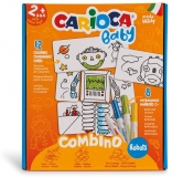 Set creativ markere, Baby 2+ Robots, 8 culori/set, Carioca