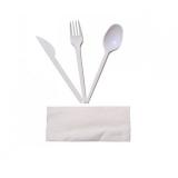 Set servetel, lingura, furculita, cutit 100 buc/set
