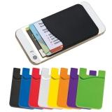 Suport silicon carduri atasabil la telefon personalizabil