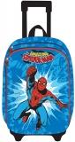 Ghiozdan Troller Clasele 1-4 3D 2 Fermoare Spiderman bleau Pigna