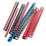 Spirale plastic 50mm negru 50 bucati/cutie