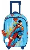 Ghiozdan Troller Clasele 1-4 3D 1 Fermoar Superman Pigna