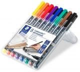 Marker permanent Lumocolor 317, 1 mm, 8 culori/set Staedtler
