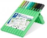 Set instrumente de scris Triplus 34 Botanic Journaling, 10 buc/set Staedtler