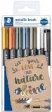 Marker caligrafic 8321 Metallic, varf tip pensula, 1 - 6 mm, 7 buc/set Staedtler
