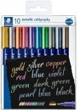 Marker caligrafic 8325 Metallic, 2.8 mm, 10 buc/set Staedtler