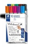 Marker whiteboard Lumocolor 351, varf rotund, 2 mm, 10 culori/set Staedtler