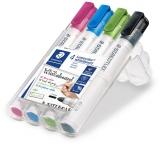 Marker whiteboard Lumocolor 351, varf rotund, 2 mm 4 culori/set Staedtler