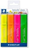 Textmarker Textsurfer Classic Neon 364, 4 buc/set Staedtler