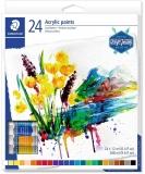 Culori acrilice 8500, 24 tuburi/set Staedtler