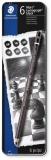 Creioane grafit Mars Lumograph Black 100-G6-03, 8B-HB, 6/set Staedler