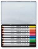 Creioane colorate acuarela Karat Aquarell 125, 12 culori/set Staedtler