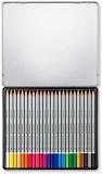 Creioane colorate acuarela Karat Aquarell 125, 24 culori/set Staedtler