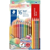 Creioane colorate Noris 127, 12+4 culori/set Staedtler