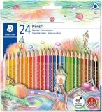 Creioane colorate Noris 127, 24 culori/set Staedtler
