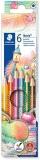 Creioane colorate Noris 127, 6 culori/set Staedtler