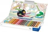 Creioane colorate 3 in 1 + ascutitoare si pensula, Noris Buddy, 18 culori/set Staedtler