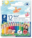 Creioane colorate mini Noris, 12 culori/set Staedtler