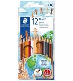 Creioane colorate Noris People of the World, 12 culori/set Staedtler