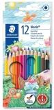 Set creioane colorate Noris 144, 12 culori/set Staedtler