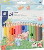 Creioane colorate Noris 144, 24 culori/set Staedtler
