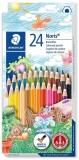 Creioane colorate 24 culori (compact) Noris Staedtler