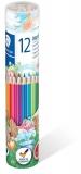 Creioane colorate Noris 144, cutie metal, 12 culori/set Staedtler