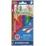 Creioane colorate Noris 144 + 1 creion HB2, 12 culori/set Staedtler